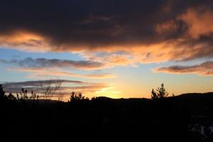 fordøyelsen i solnedgang